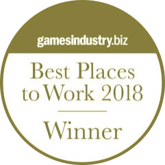 GamesIndustry.biz - Best Places to Work 2018 - Winner