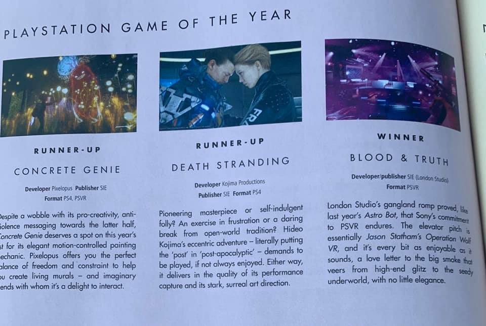 Blood and Truth Game of The Year
